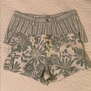 Two (2) pack Hollister patterned shorts
